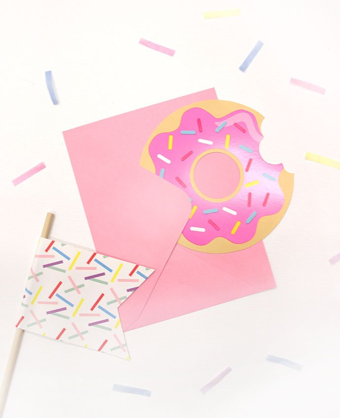 Doughnut Party Invitations