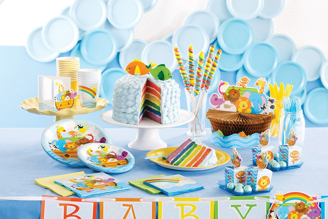 Noah 39 s ark baby shower ideas party delights blog for Noah s ark decorations