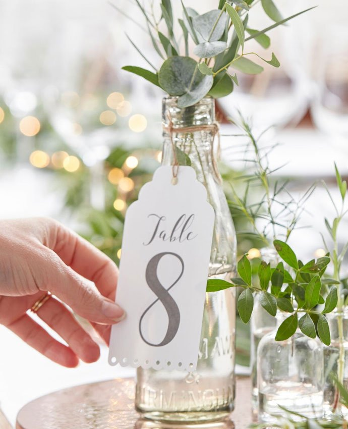 Wine Bottle Wedding Table Numbers