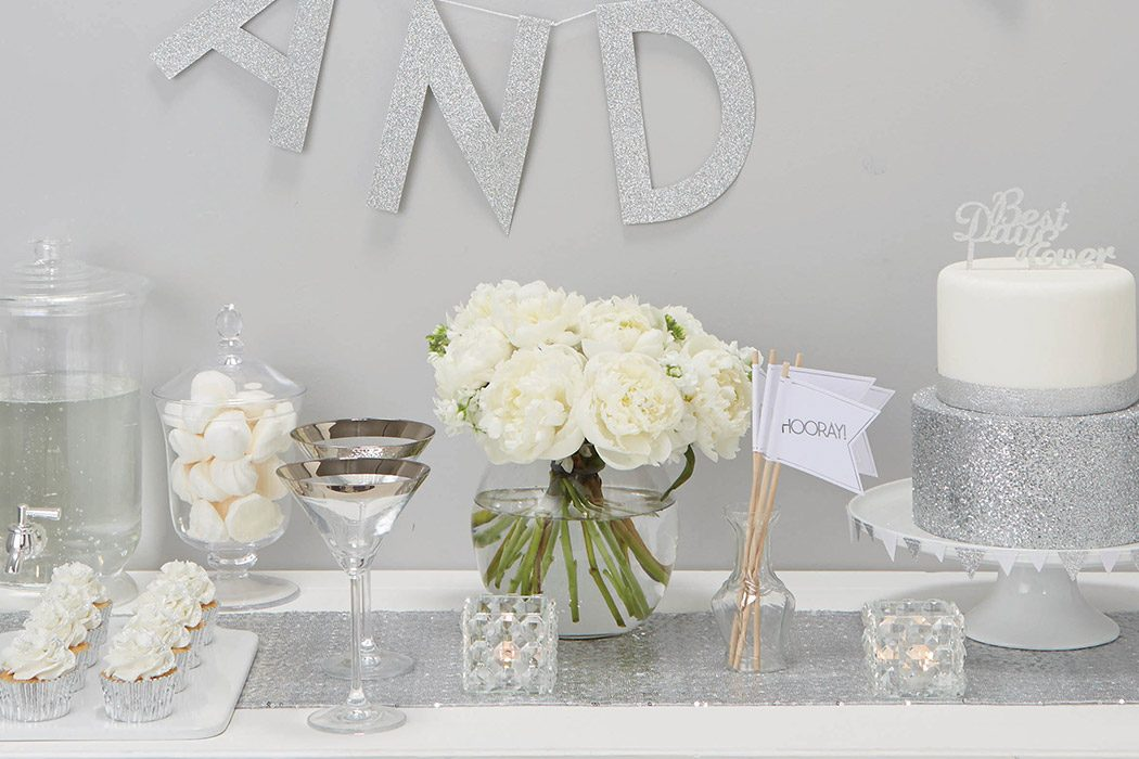 Inspiration For A Metallic Silver Wedding Theme Party Delights Blog