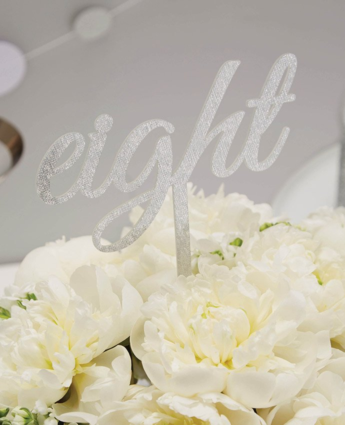 Silver Script Table Number
