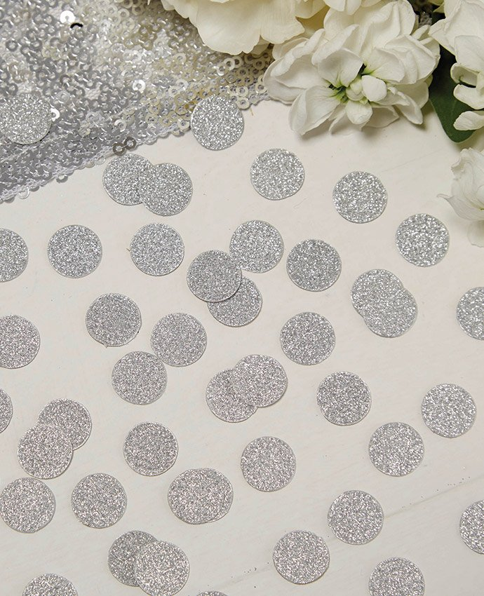 Silver Wedding Table Confetti