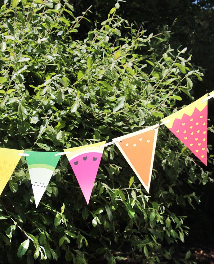free printable fruit bunting