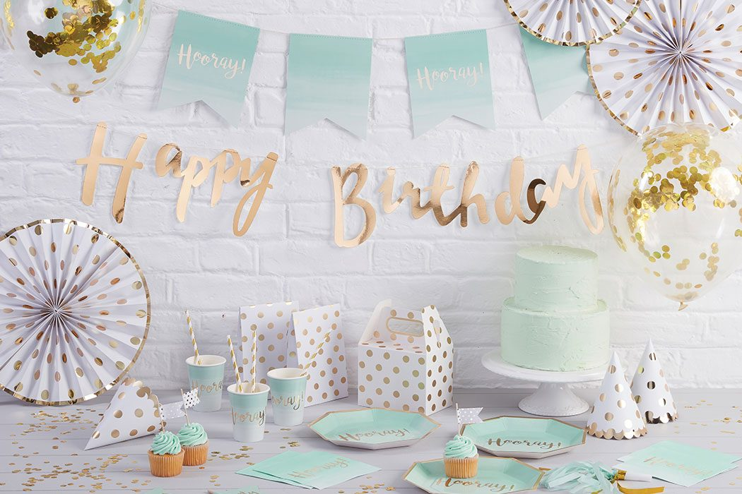 Mint Green & Gold Party Ideas