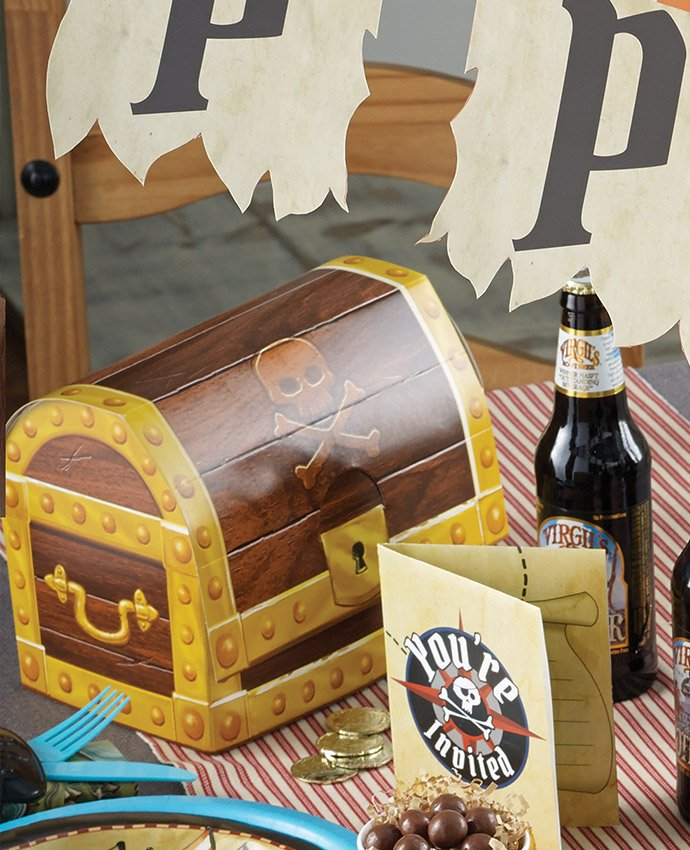 Pirate Treasure Chest Party Boxes