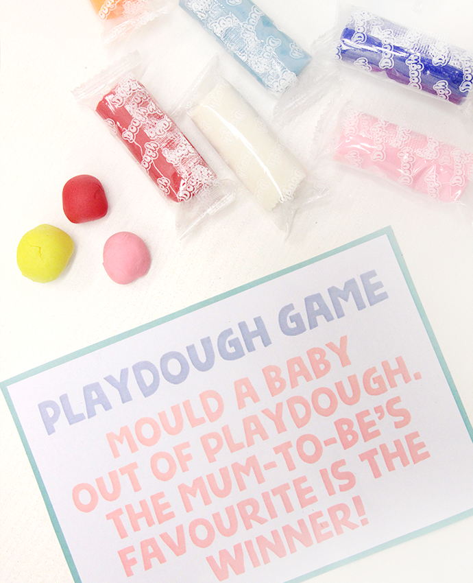 Playdough Baby Shower Game
