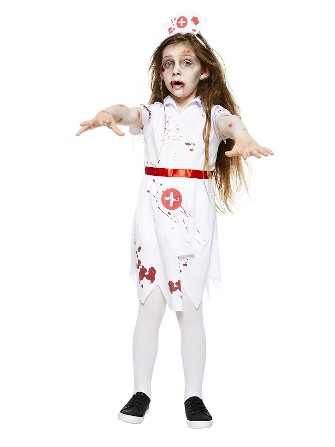 Zombie Nurse Costume For Kids