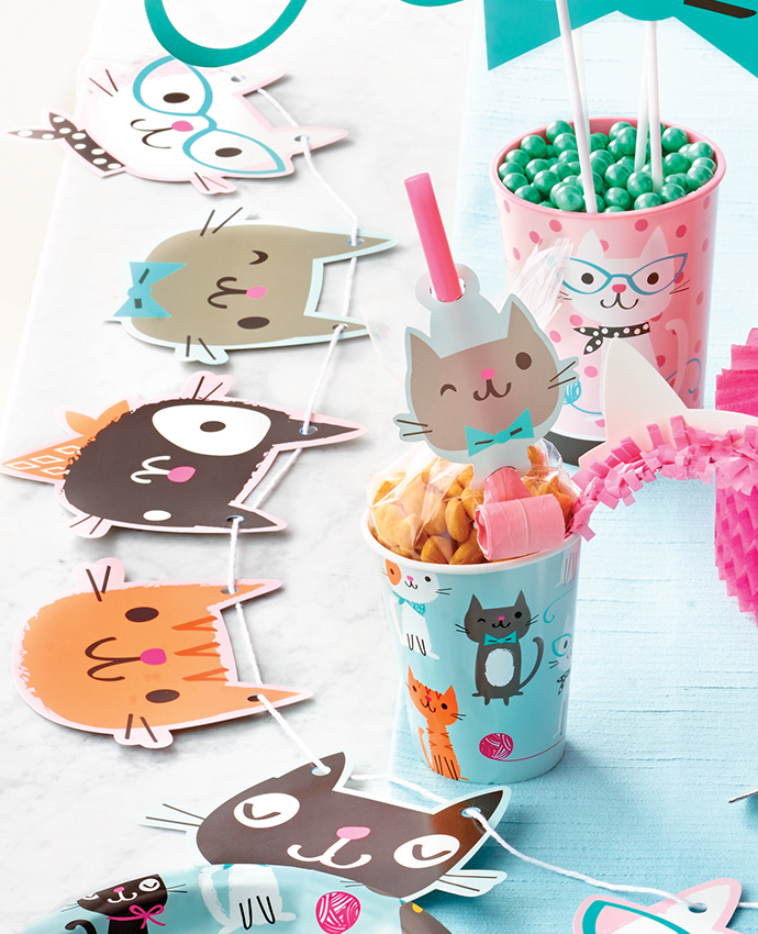 Cat Banner and Cups