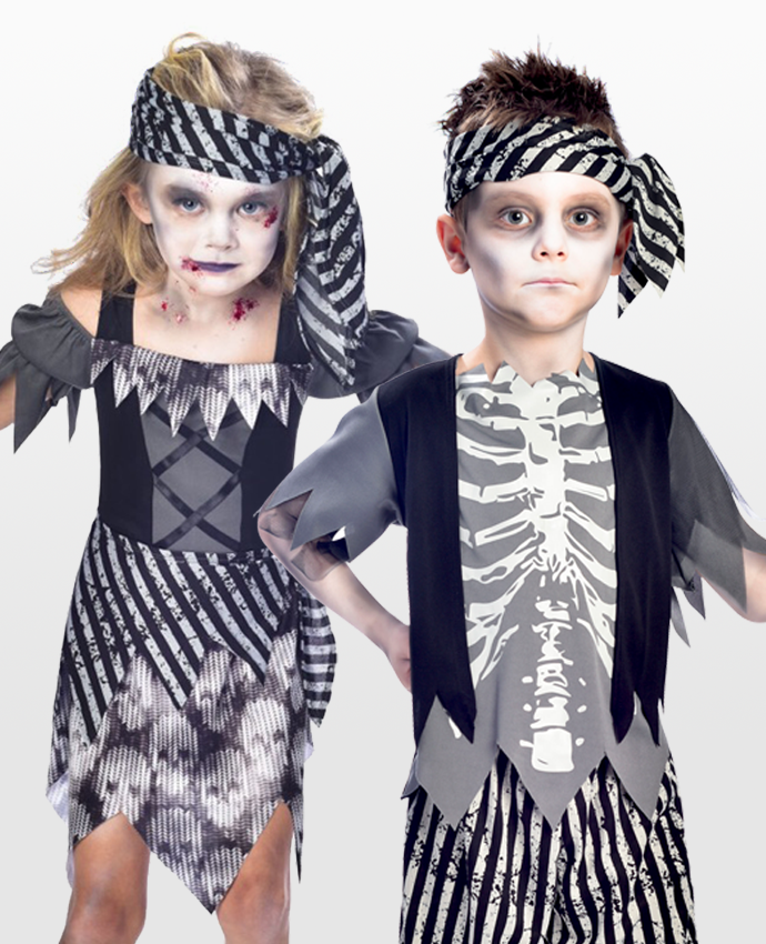 Kids Ghost Pirate Costumes