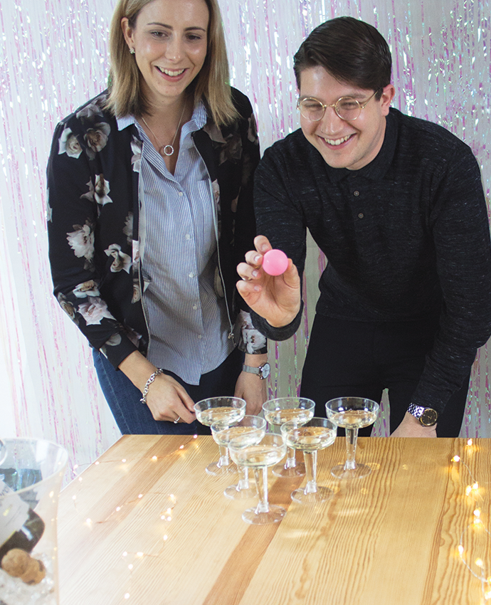 Playing Prosecco Pong