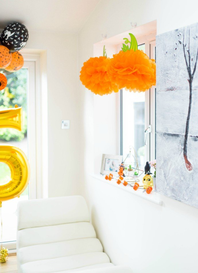 Pumpkin Pom Pom Decorations