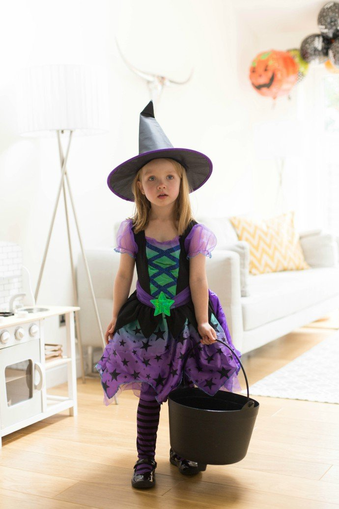 Witch Costume & Black Cauldron