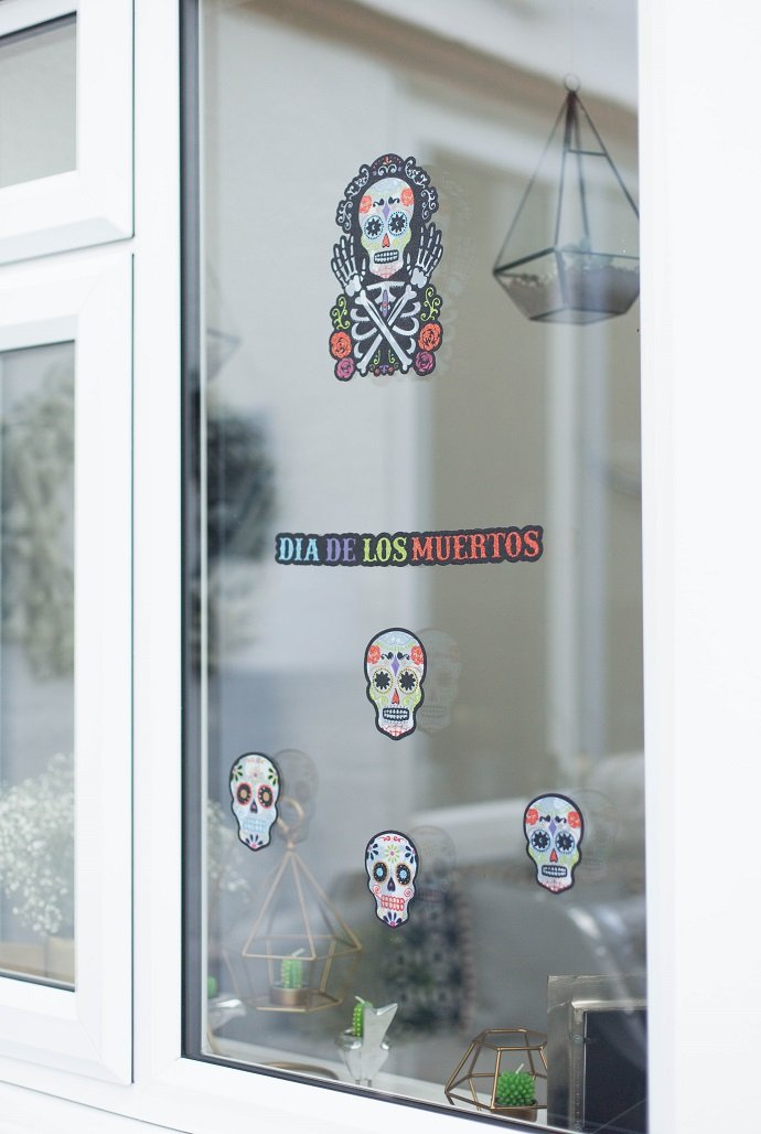 Day of the Dead Window Decorations for Halloween