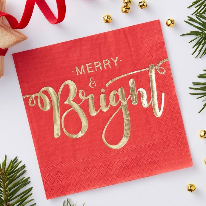 Red & Gold Christmas Napkins
