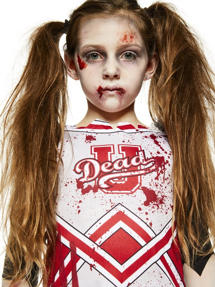 Zombie Cheerleader Costume for Kids