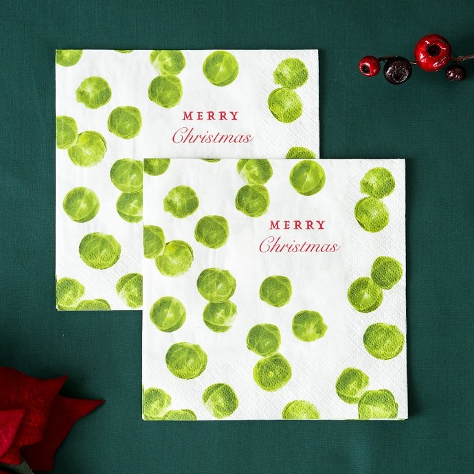 Brussel Sprout Christmas Party Napkins