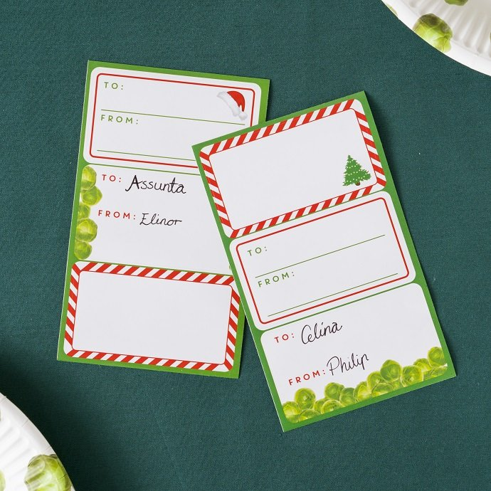 Brussel Sprout Gift Tags