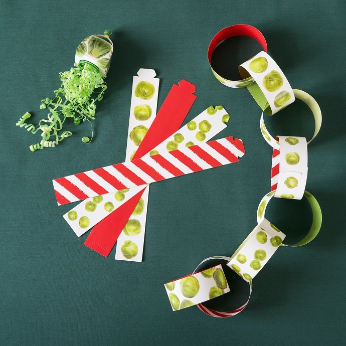 Brussel Sprout Paper Chains