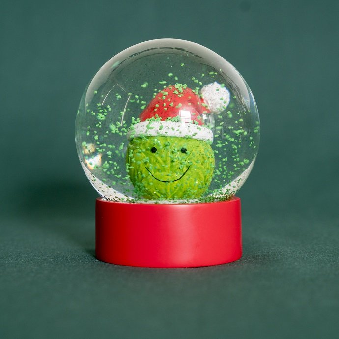Brussel Sprout Snow Globe