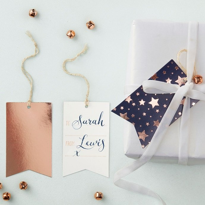 Rose Gold Christmas Gift Tags