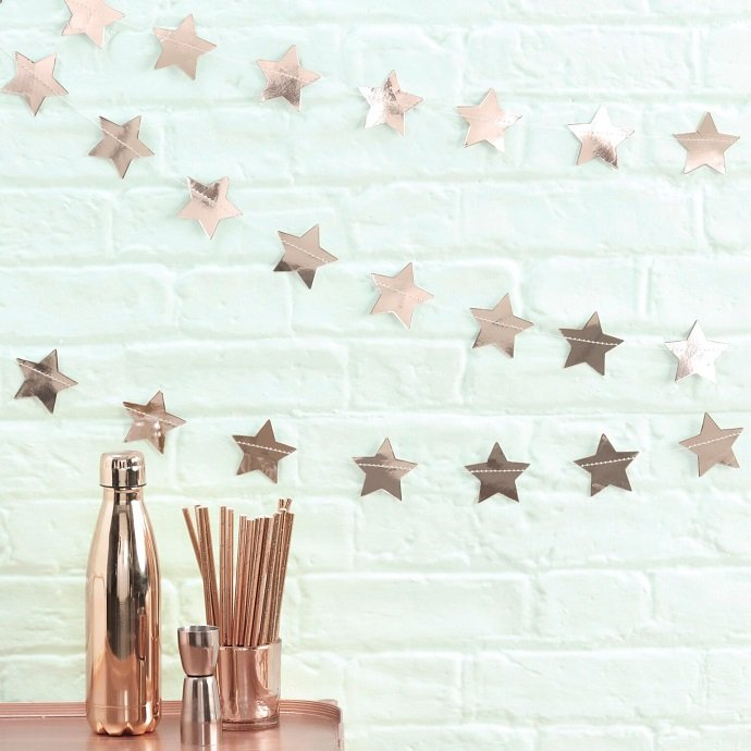 Rose gold christmas party ideas party delights blog for Decoration maison rose gold