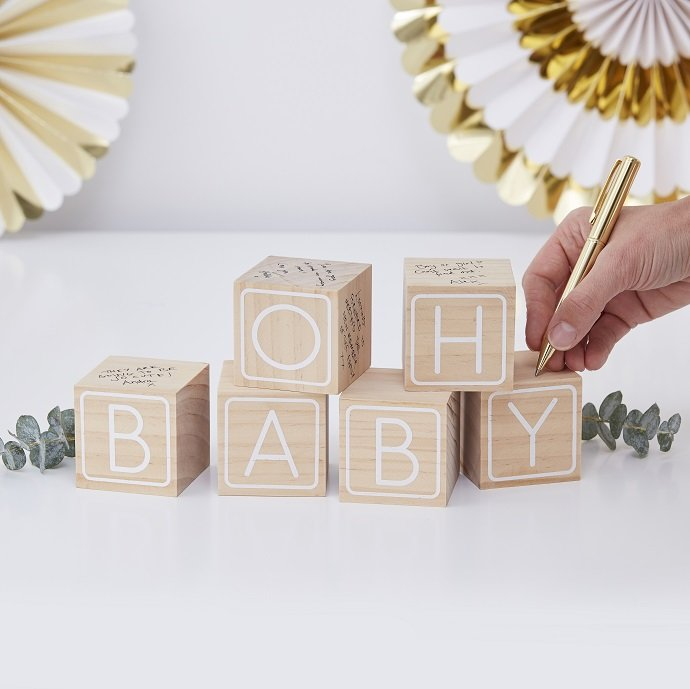 Baby Shower Guestbook Building Blocks