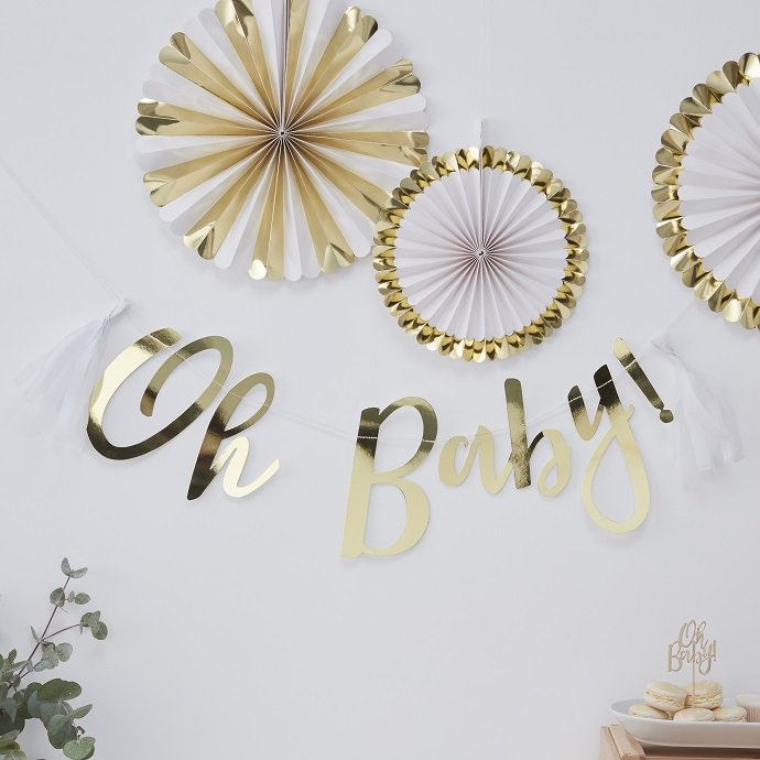 Baby Shower Oh Baby Bunting