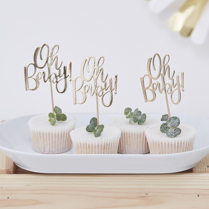 White Amp Gold Baby Shower Ideas Party Delights Blog