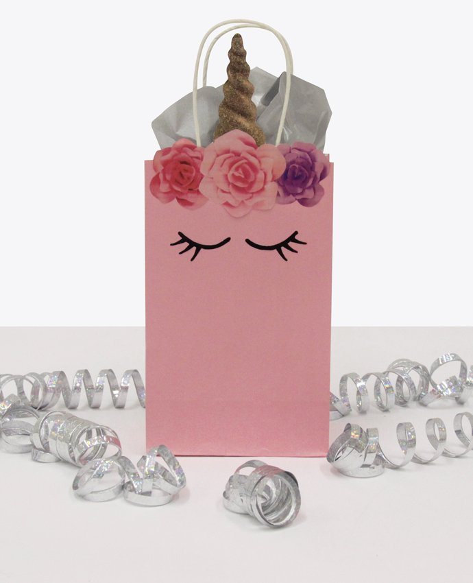 Pink Unicorn Party Bags
