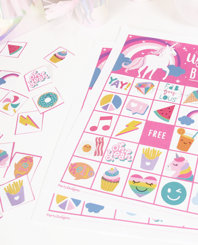 Unicorn Bingo Game