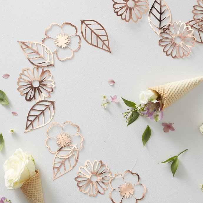 Rose Gold Garland for English Tea Party