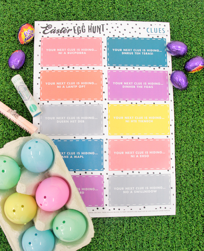 Easter Egg Hunt Ideas For Adults Printable Clues Party