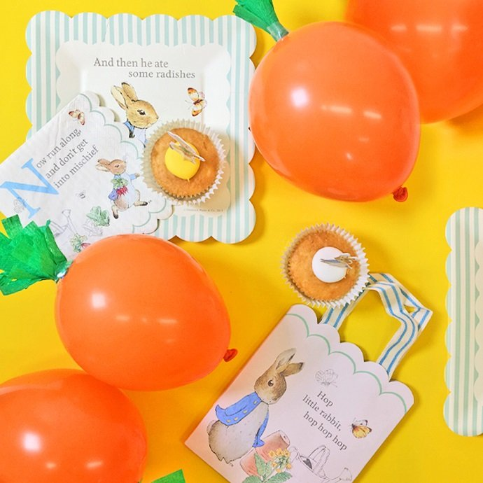 DIY Carrot Balloons for Peter Rabbit Party