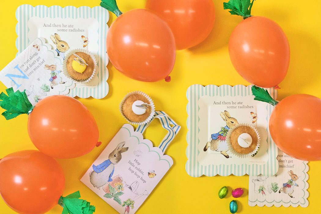 DIY Carrot Balloons for a Peter Rabbit Party