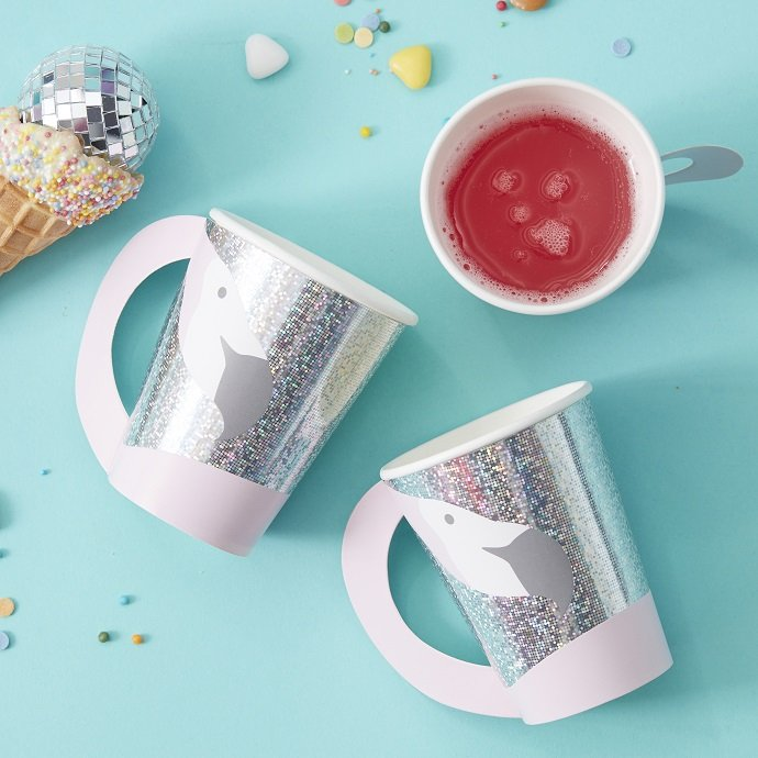 Iridescent Flamingo Cups