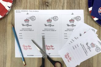 Free printable Royal Wedding invitations