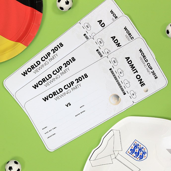 World Cup party invitations