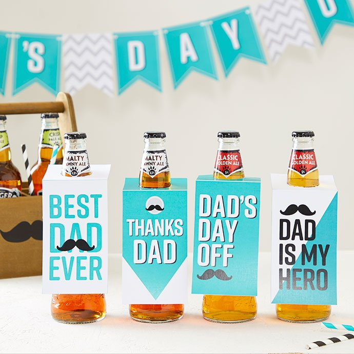 Father's Day beer bottle toppers