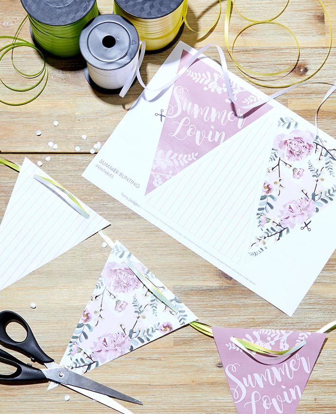 Printable bunting for your summer festival