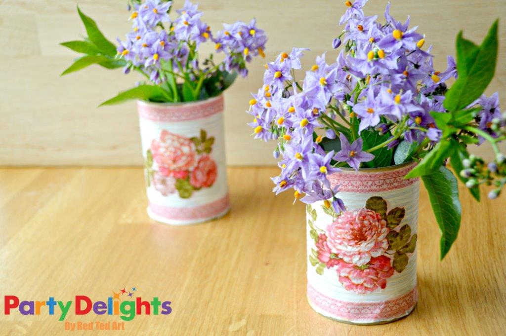 Shabby Chic Party Decorations - simple upcycling DIY project