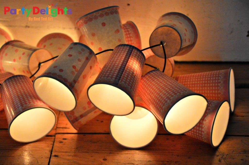 Paper Cup Fairy Light Bunting