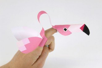Mr Printables Flamingo Finger Puppet