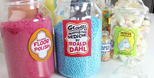 George's Marvellous Medicine sweet jars
