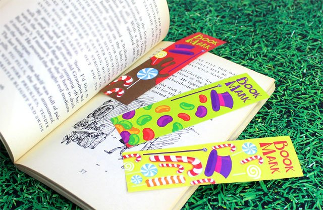 Willy Wonka bookmarks