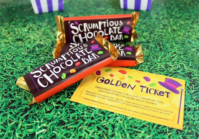 Willy Wonka Chocolate Bars Party Delights Blog