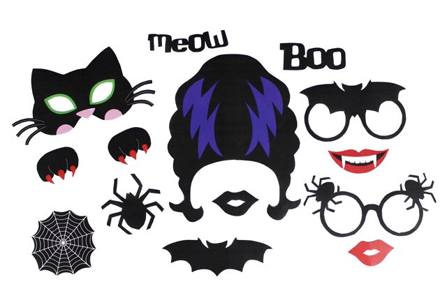 graphic relating to Halloween Cutouts Printable titled Printable Halloween Photograph Props Bash Delights Website