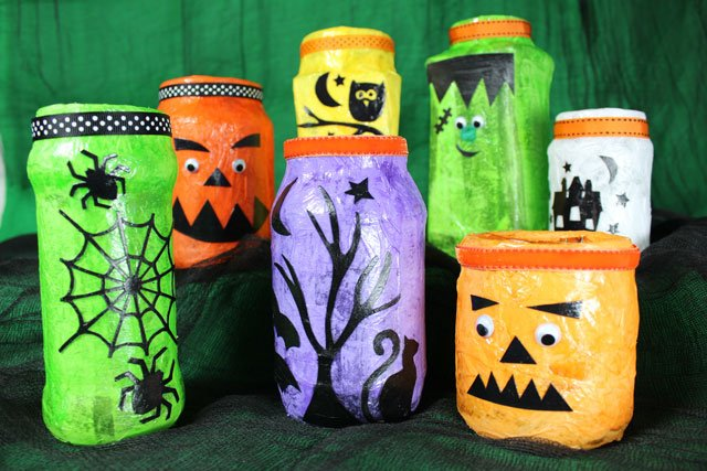 Halloween Decorations - Jam Jar Lanterns