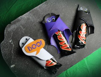 Halloween chocolate bar wrappers