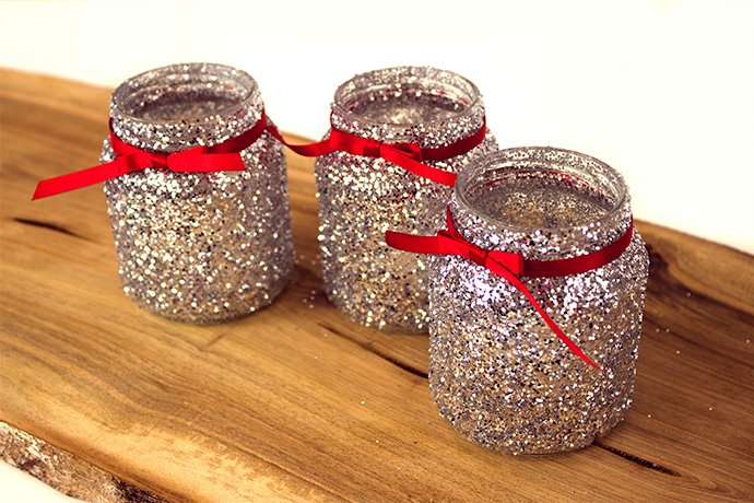 How to Make Christmas Jam Jar Decorations | Party Delights ...