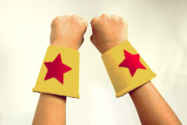 Make your own superhero costume - cuffs